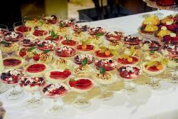Dessert im Cocktailglas