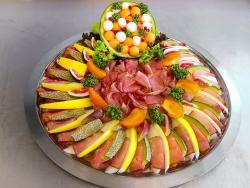 Schinken-Melonen-Platte