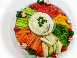 Gemüsesticks mit Dipp